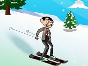 Play Mr.Bean Skiing Fun